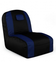 Dolphin Black N Royal Blue Striped Edge Bean Bag