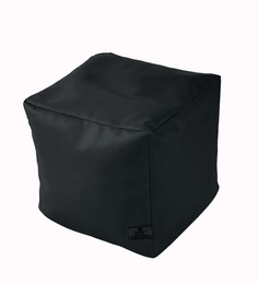 Dolphin Black Kids Pouffe Bean Bag Cover (Without Beans)
