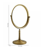 Dolphy Brown Brass and Stainless Steel Bath Mirror