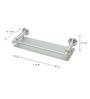 Dolphy Silver Aluminum 14.5 x 5.9 x 2.7 Inch Utility Tray