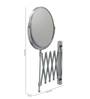Dolphy Silver Brass and Stainless Steel Bath Mirror
