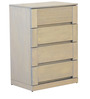 Estela Chest of Four Drawers in Artisan Oak Finish by CasaCraft