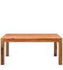 Dortmund Six Seater Solid Wood Dining Table in Brown Colour by @Home