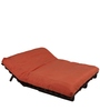 Double Futon Sofa Cum Bed with Mattress in Rust Colour by ARRA