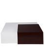 Dove Coffee Table in White & Walnut Colour by Evok