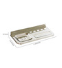 Doyours Glossy Stainless Steel 11.4 x 4.9 x 0.9 Inch Soap Dish