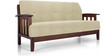 Dritto Sofa Set (3 + 1 + 1) Seater in Beige Colour by Vive