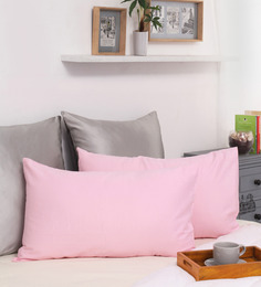 Dreamscape Pink Cotton 27 X 17 Inch Pillow Cover - Set Of 2