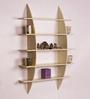 Dream Arts Cream MDF Bow Rack Wall Shelf