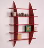 Dream Arts Red MDF Bow Rack Wall Shelf