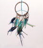 Rooh Wellness Peace and Love Multicolor Wool 20 x 1 x 26 Inch Dream Catcher