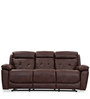 Dream Three Seater Recliner in Chocolate Brown Colour by Durian