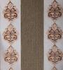 Dreamscape Beige Poly Cotton 48 x 84 Inch Floral Door Curtains - Set of 2