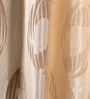 Dreamscape Beige Polyester 84 x 47 Inch Abstract Eyelet Door Curtains - Set of 2