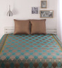 Dreamscape Green Poly Cotton Bed Cover - Set of 2