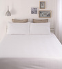 Dreamscape White Cotton Queen Size Bed Sheet - Set of 3