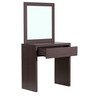 Katsurou Dresser Table with Mirror and Stool in Chocolate Beech Finish by Mintwud