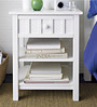 Dresser Series Bedside Table in White Colour by Asian Arts