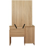 Dressing Table & Stool in Natural & White Colour by Penache Furnishings