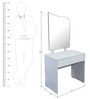 Dressing Table in Dark Grey & White Colour by Parin