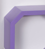 DriftingWood Purple MDF Octagon Shape Wall Shelf - Set of 3