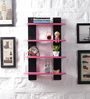 Driftingwood Pink & Black MDF Ladder Shape Wall Shelf