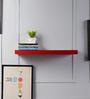 Driftingwood Red MDF Round Single Floating Wall Shelf