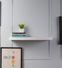 Driftingwood White MDF Round Single Floating Wall Shelf