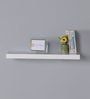 DriftingWood White MDF Single Floating Wall Shelf