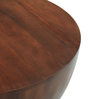 Drum Coffee Table in Mahogany Finish by The ArmChair