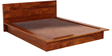 Duvall King Size Bed with Two Bedside Tables in Honey Oak Finish by Woodsworth