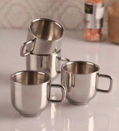 Dynamic Store Elegant Stainless Steel Cups - Set Of 4 - 1300641
