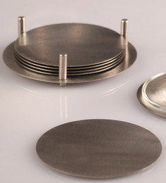 Dynore Stainless Steel Coaster - Set Of 6 - 1284648