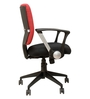 E - Pro I Mid Back Office Chair in Red and Black Color Dual Tone by BlueBell Ergonomics