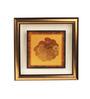 E-Studio Gold Foiling 9.5 x 9.5 Inch Zen Coins Symbol Wooden Frame
