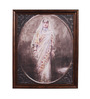 E-Studio Wooden 8 x 13 Inch Indian Lady Imperial Framed Wall Art