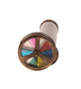 E-Studio Multicolor Metal Kaleidoscope with Leather Pouch Collectible
