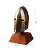 E-Studio Multicolor Metal Table Medieval Knight Helmet Collectible