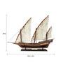 E-Studio Multicolour Solid Wood Xebec Ship Collectible