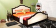 Oregon King Bed with Storage in Passion Mahogany Finish by Amberville