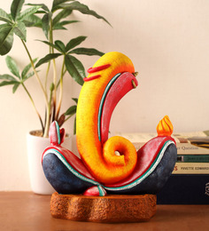 Earth Multicolour Polyresin Abstract Modern Designer Ganesha's Statue