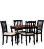 Dallyn Four Seater Dining Set in Espresso Walnut Finish by Amberville