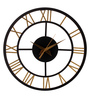 Earth Grey Wood 12 x 0.5 x 12 Inch Uneven Lines Round Wall Clock
