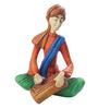 Earth Multicolour Polyresin Musician Playing Harmonium Statue Showpiece