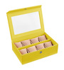 Ecoleatherette Leatherette Lime Yellow 8-case Watch Box