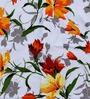 eCraftIndia Multicolor Cotton Floral Single Bed Reversible AC Comforter