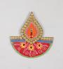 Ecraftindia Multicolour Papier Mache Floral Tilak Design Key Holder