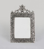 eCraftindia Silver Metal 8.5 x 0.5 x 13 Inch Antique Finish Classy Photo Frame