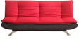 Edo Dual Tone Sofa Bed - Fabric in Red Colour  by Furny