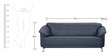 Edo Three Seater Sofa in Black Colour by Furnitech